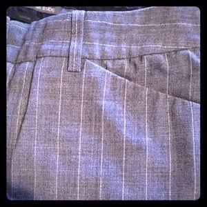 Express trouser, grey with white pin stripe 2
